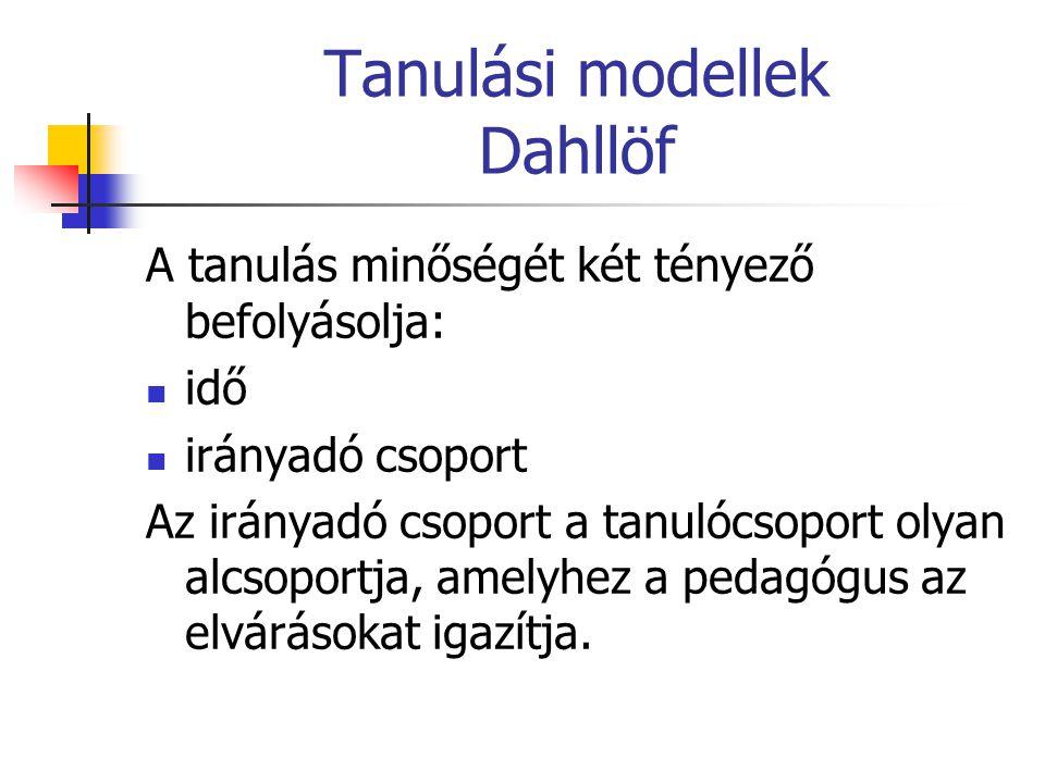 Tanulási modellek Dahllöf
