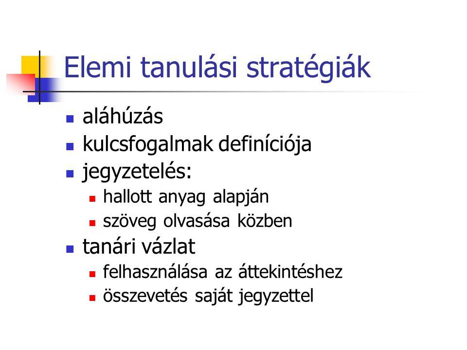 Elemi tanulási stratégiák