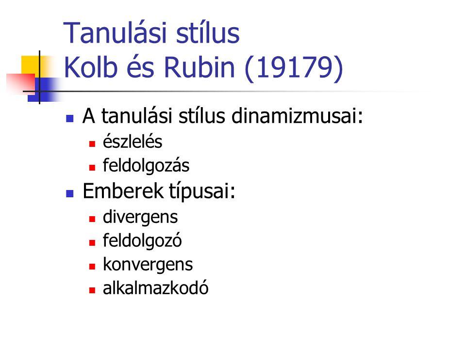 Tanulási stílus Kolb és Rubin (19179)