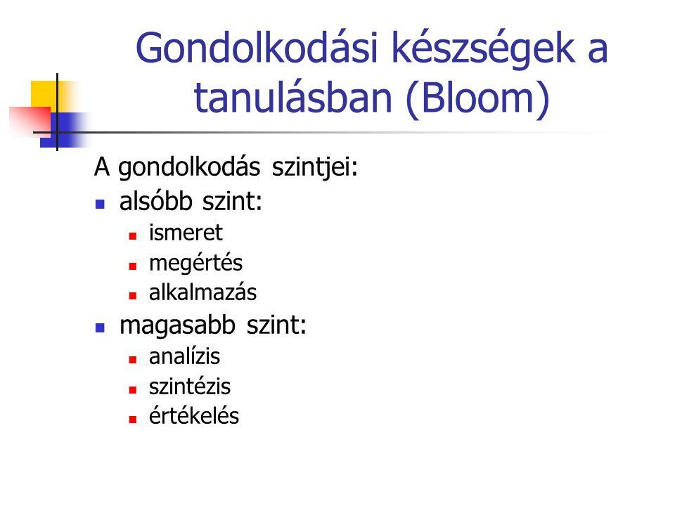 Gondolkodási készségek a tanulásban (Bloom)