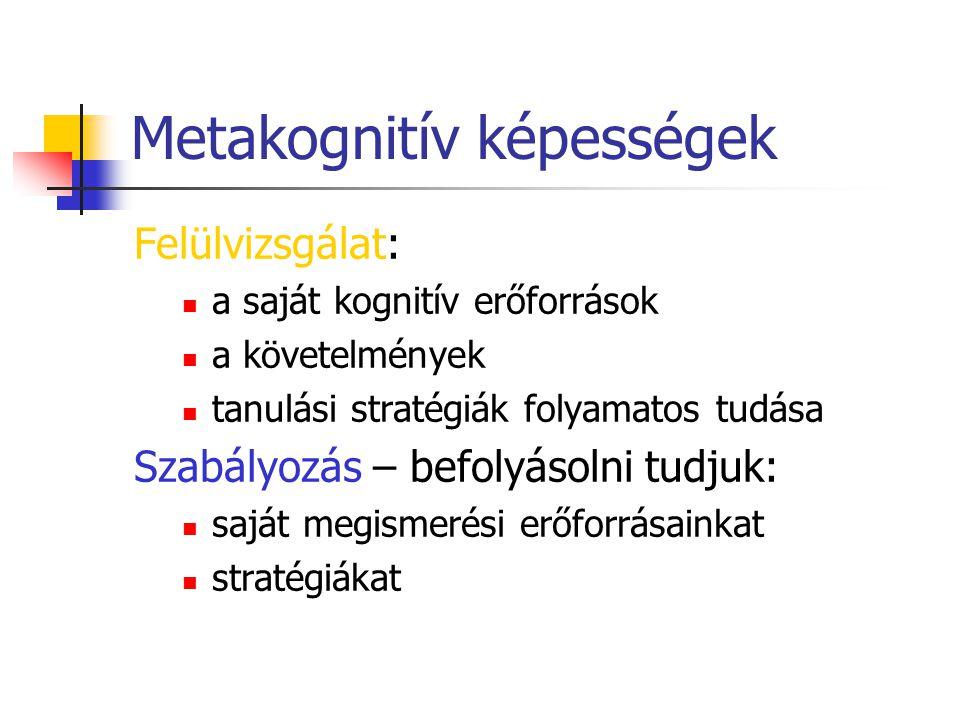 Metakognitív képességek