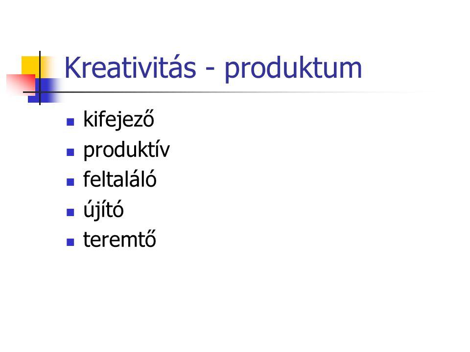 Kreativitás - produktum