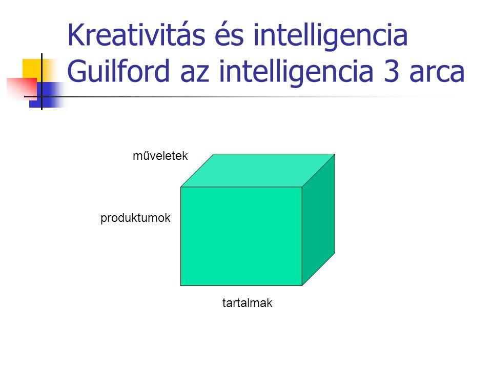 Kreativitás és intelligencia Guilford az intelligencia 3 arca