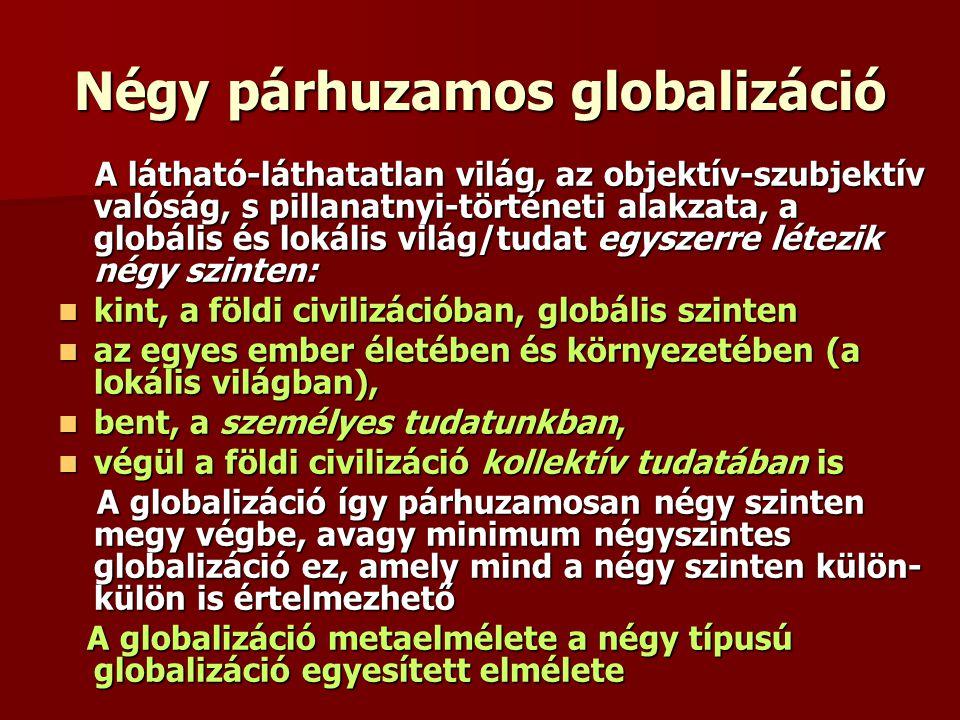 Négy párhuzamos globalizáció