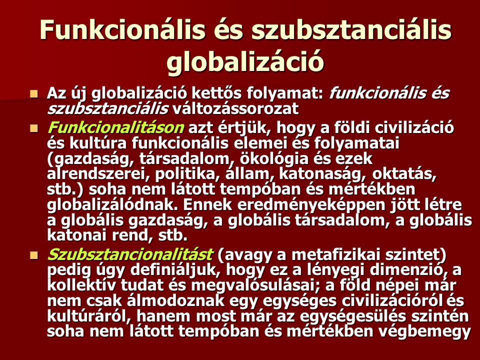 Funkcionális és szubsztanciális globalizáció
