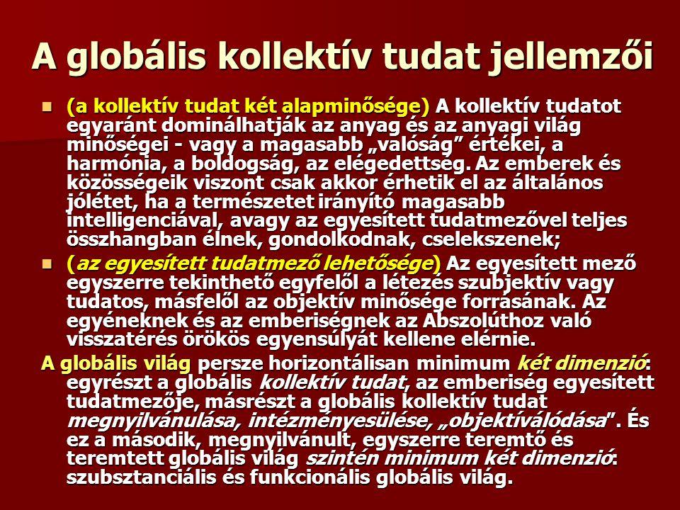 A globális kollektív tudat jellemzői