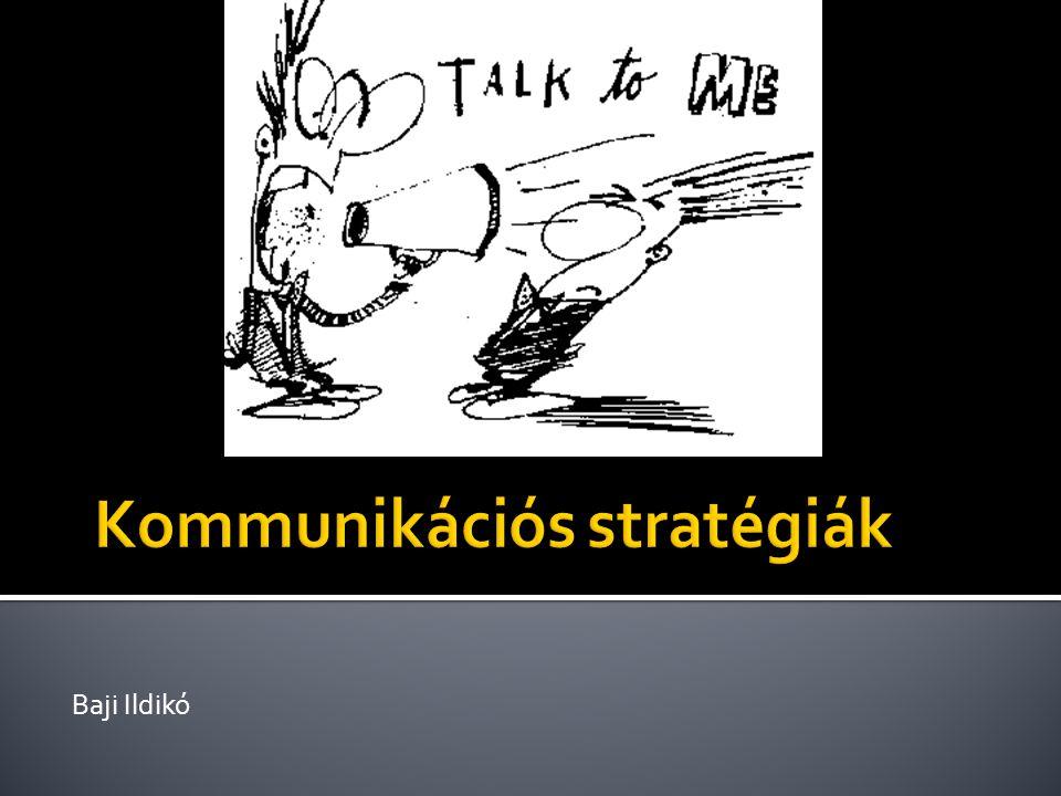 Kommunikációs stratégiák