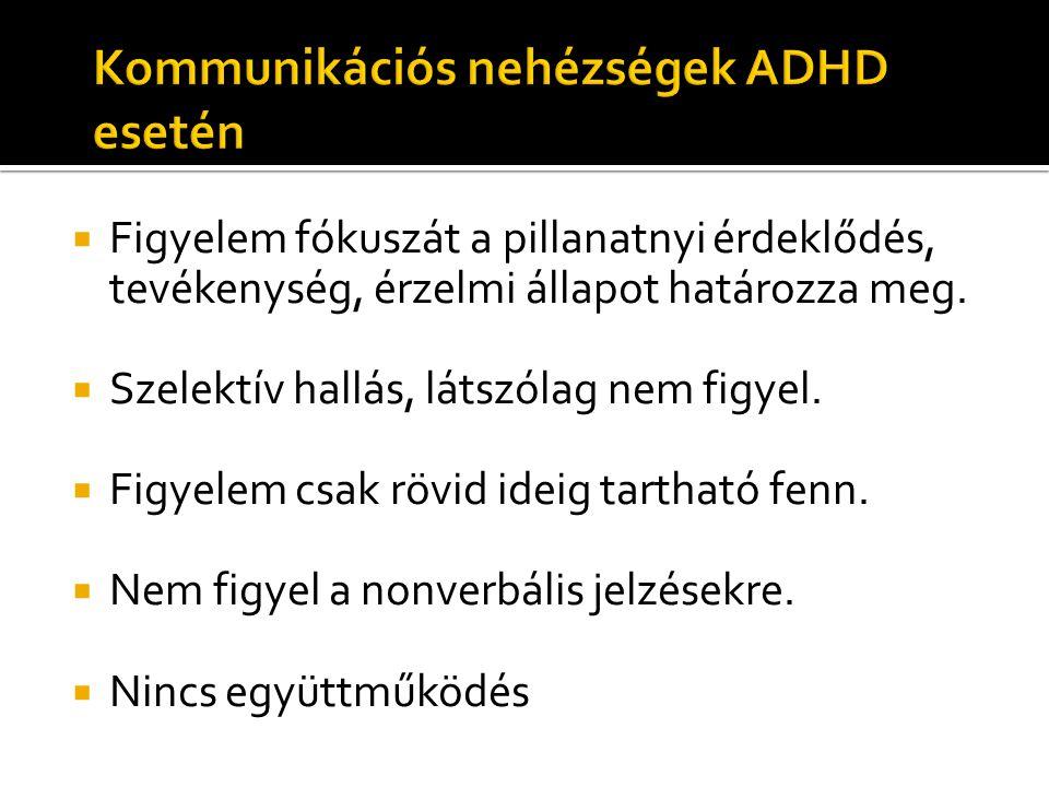 Kommunikációs nehézségek ADHD esetén
