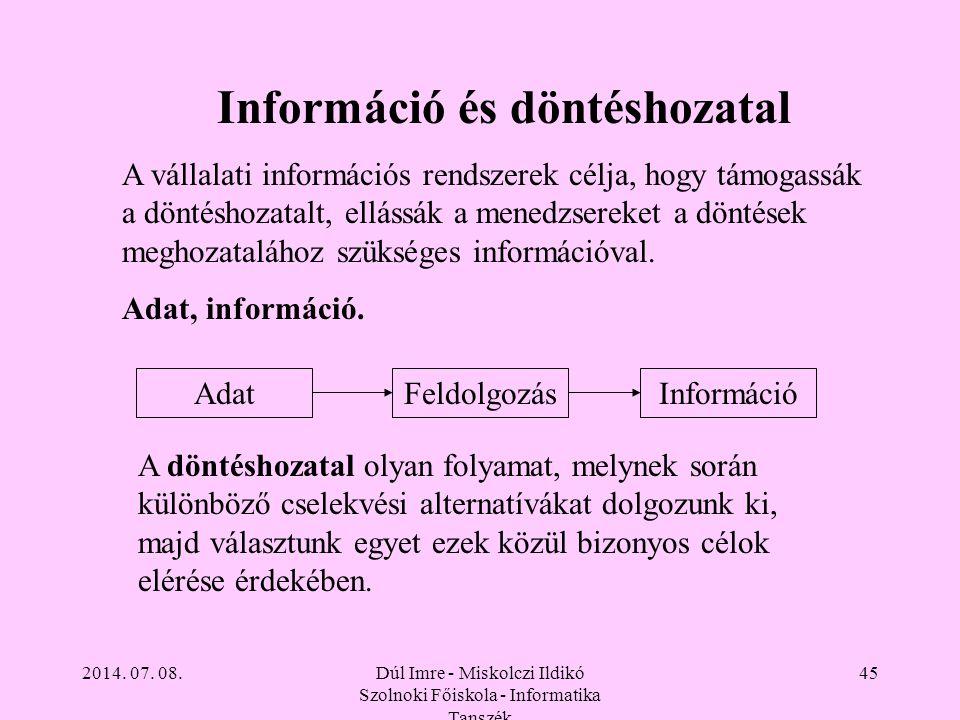 Információ és döntéshozatal