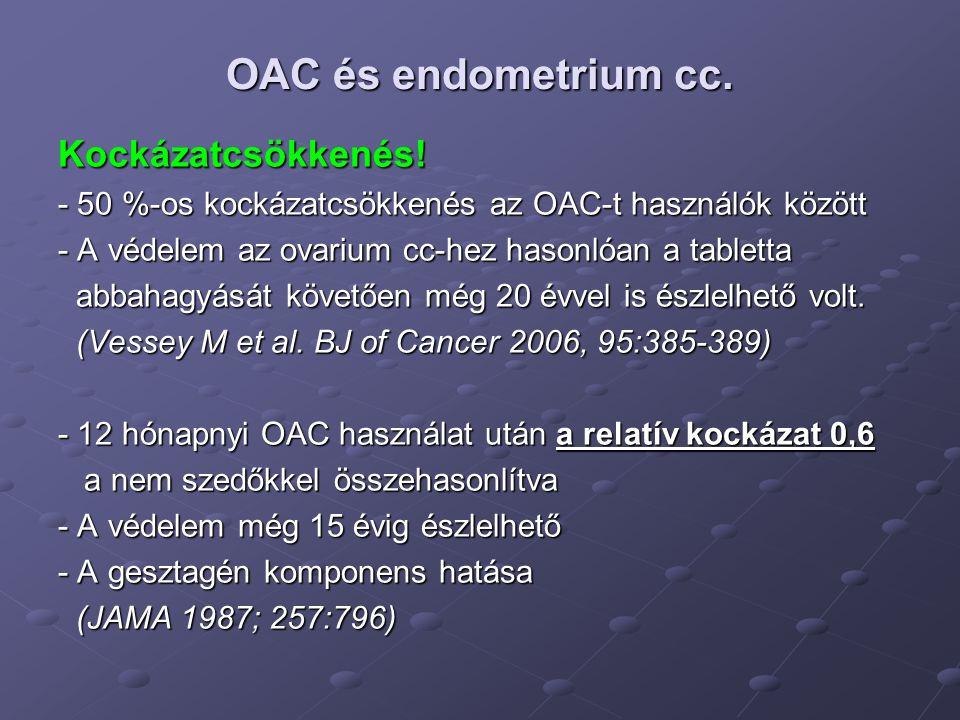 OAC és endometrium cc. Kockázatcsökkenés!