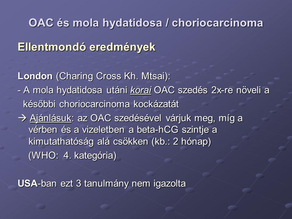 OAC és mola hydatidosa / choriocarcinoma