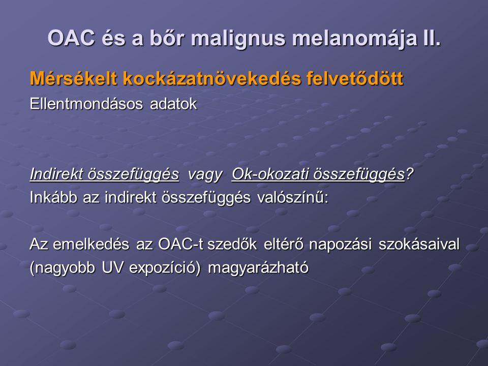 OAC és a bőr malignus melanomája II.