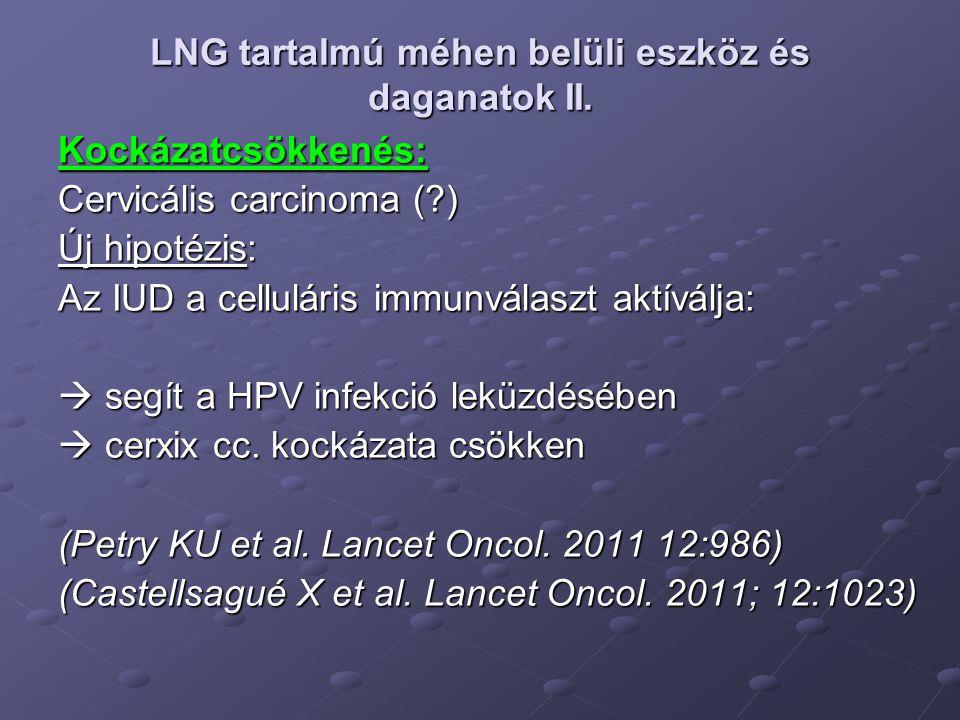 LNG tartalmú méhen belüli eszköz és daganatok II.
