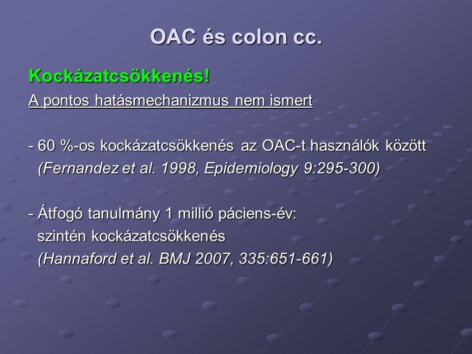 OAC és colon cc. Kockázatcsökkenés!