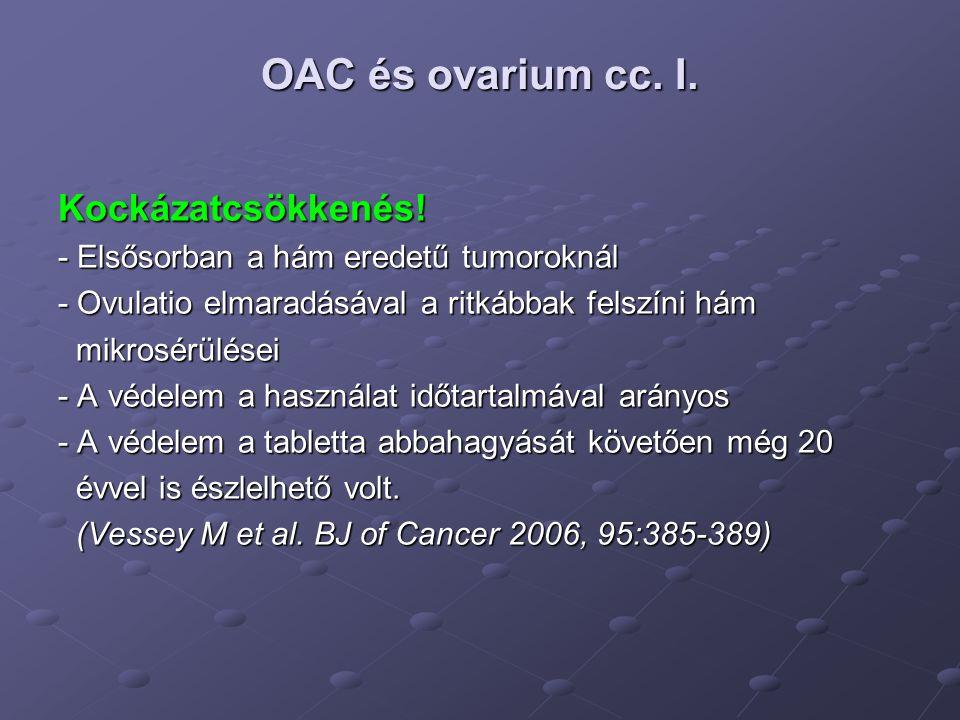 OAC és ovarium cc. I. Kockázatcsökkenés!