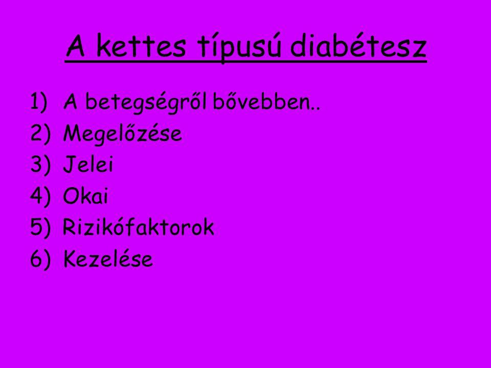 A kettes típusú diabétesz