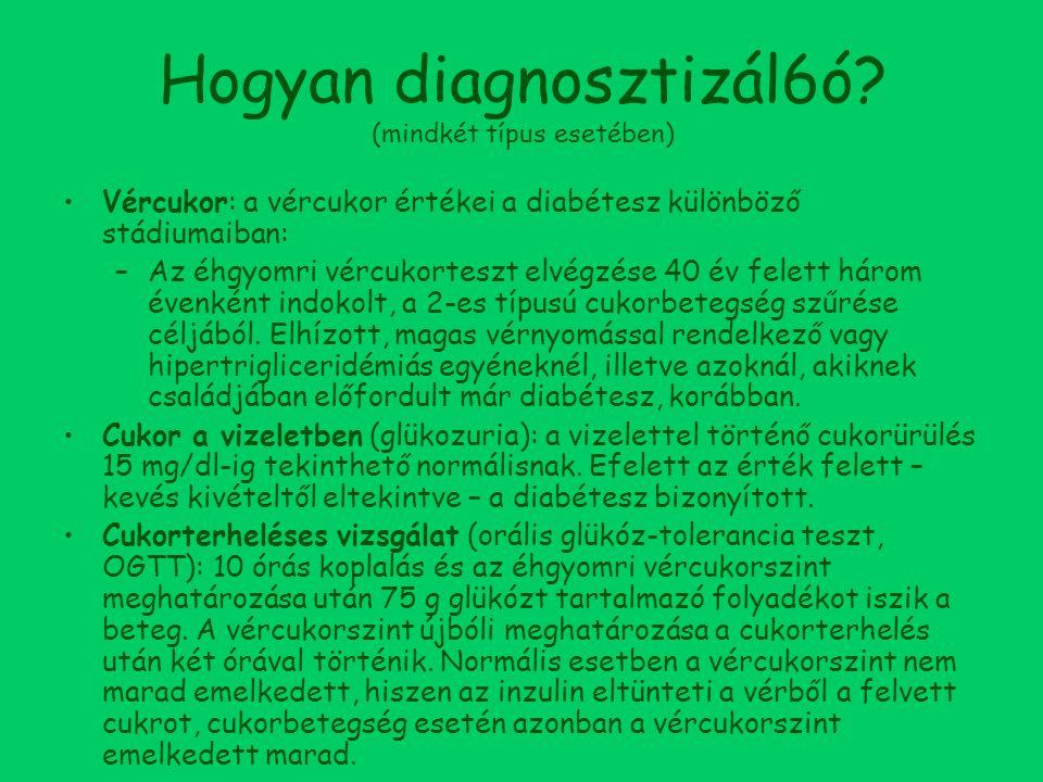 Hogyan diagnosztizál6ó (mindkét típus esetében)