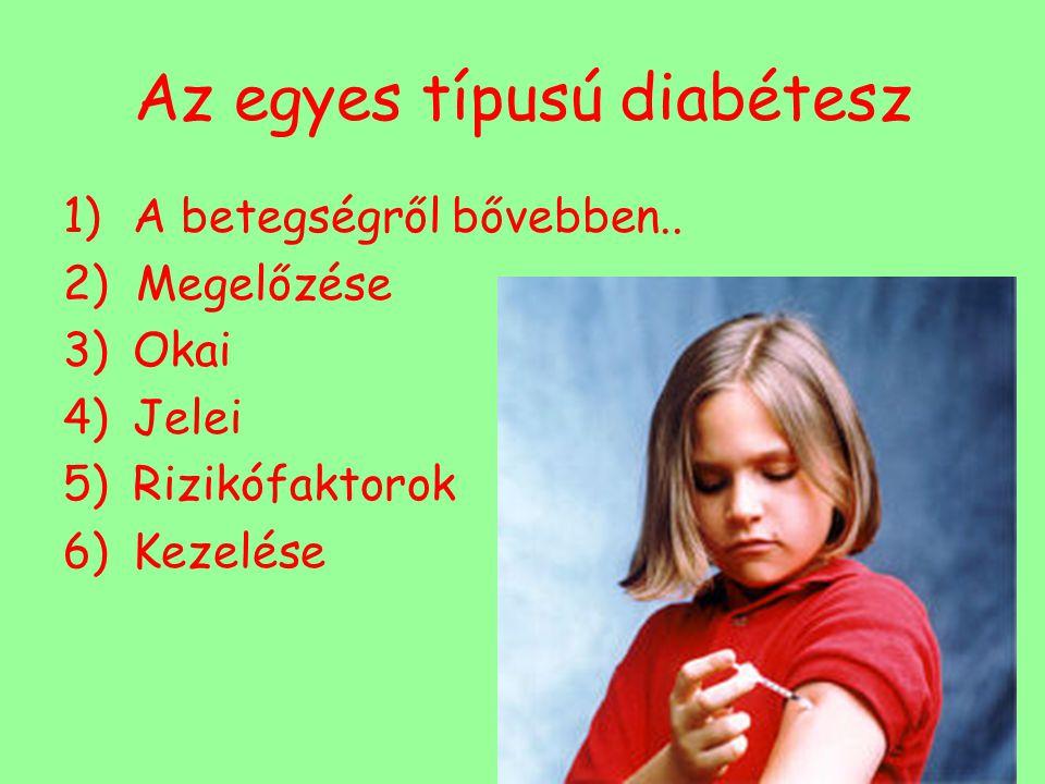 Az egyes típusú diabétesz