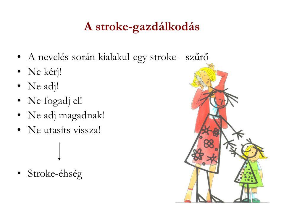A stroke-gazdálkodás A nevelés során kialakul egy stroke - szűrő