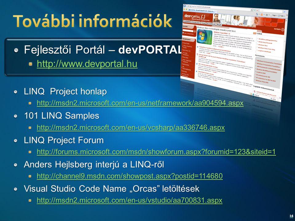 További információk Fejlesztői Portál – devPORTAL{..}