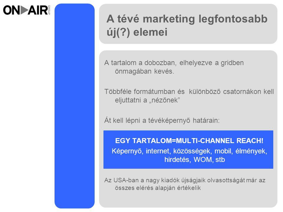 A tévé marketing legfontosabb új( ) elemei