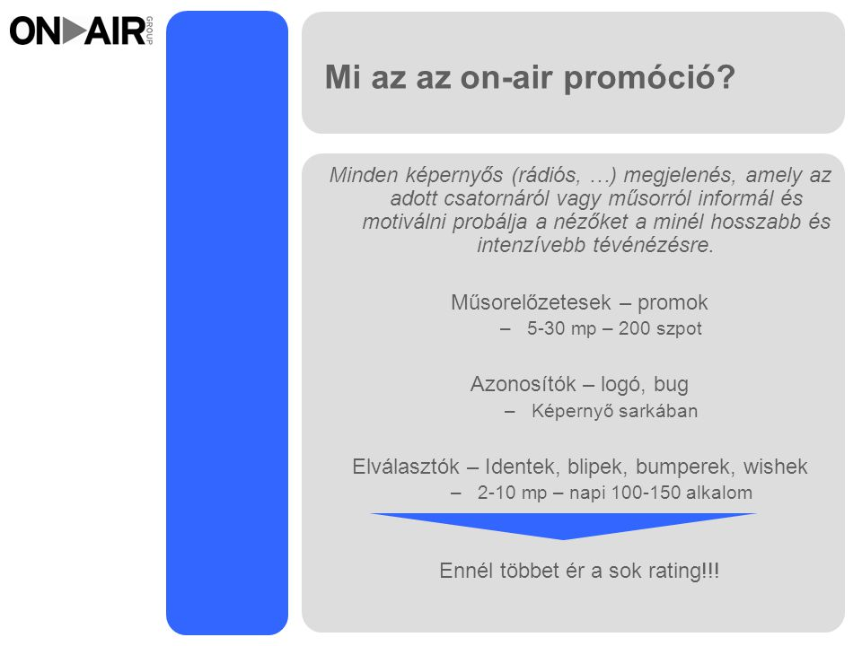 Mi az az on-air promóció
