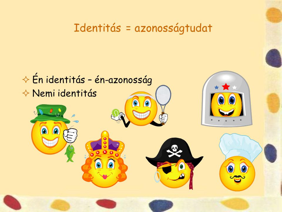 Identitás = azonosságtudat