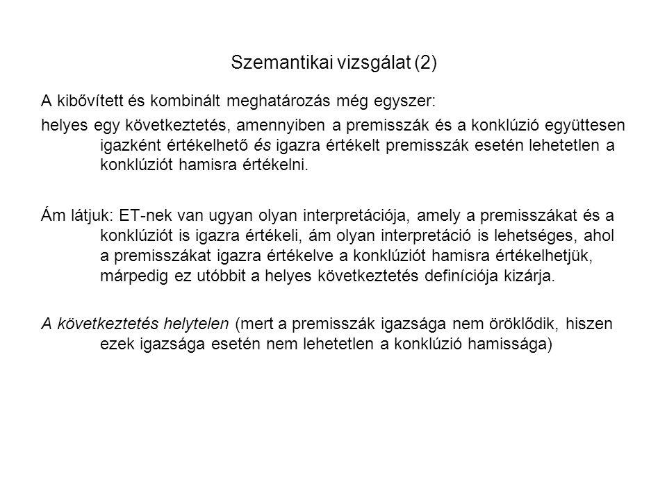 Szemantikai vizsgálat (2)