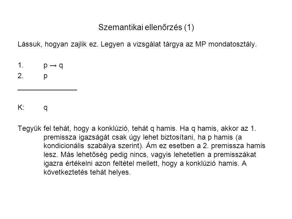 Szemantikai ellenőrzés (1)