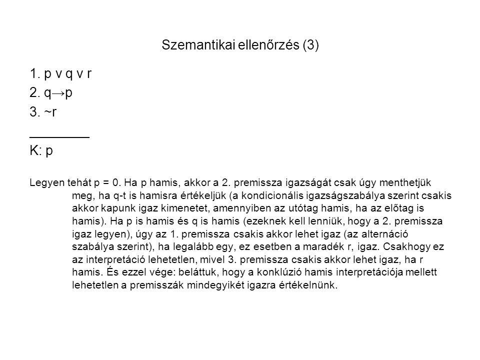 Szemantikai ellenőrzés (3)