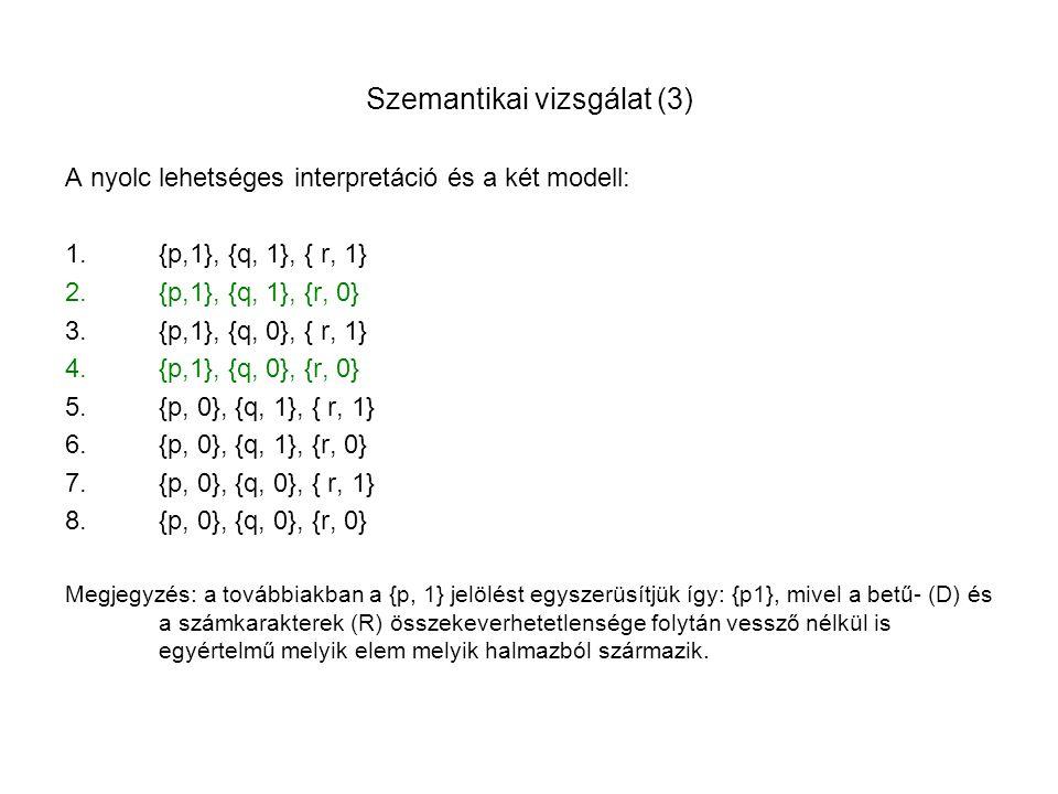 Szemantikai vizsgálat (3)