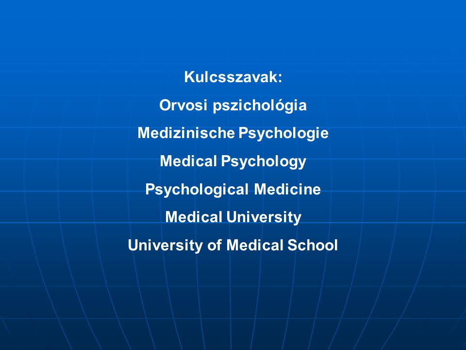 Medizinische Psychologie Medical Psychology Psychological Medicine