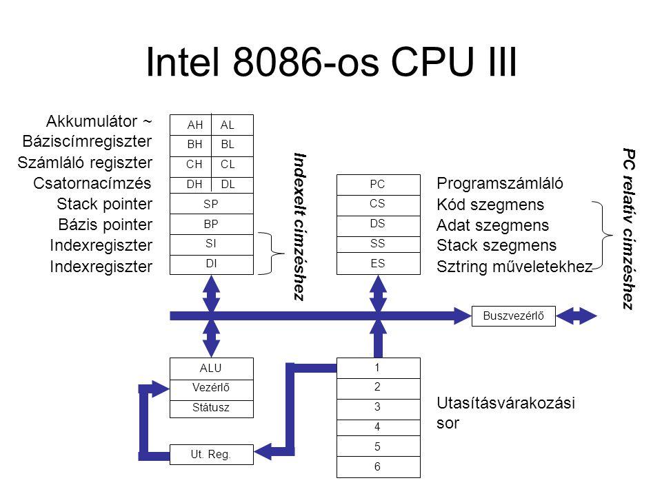 Intel 8086-os CPU III Akkumulátor ~ Báziscímregiszter