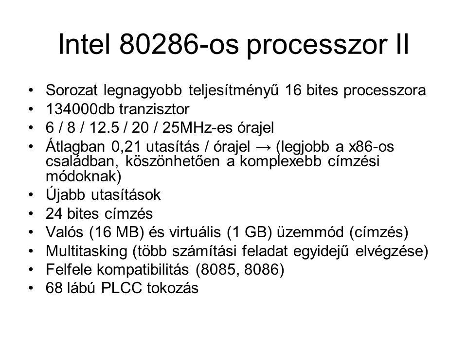 Intel 80286-os processzor II
