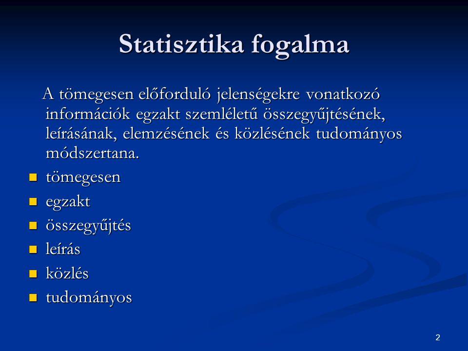 Statisztika fogalma