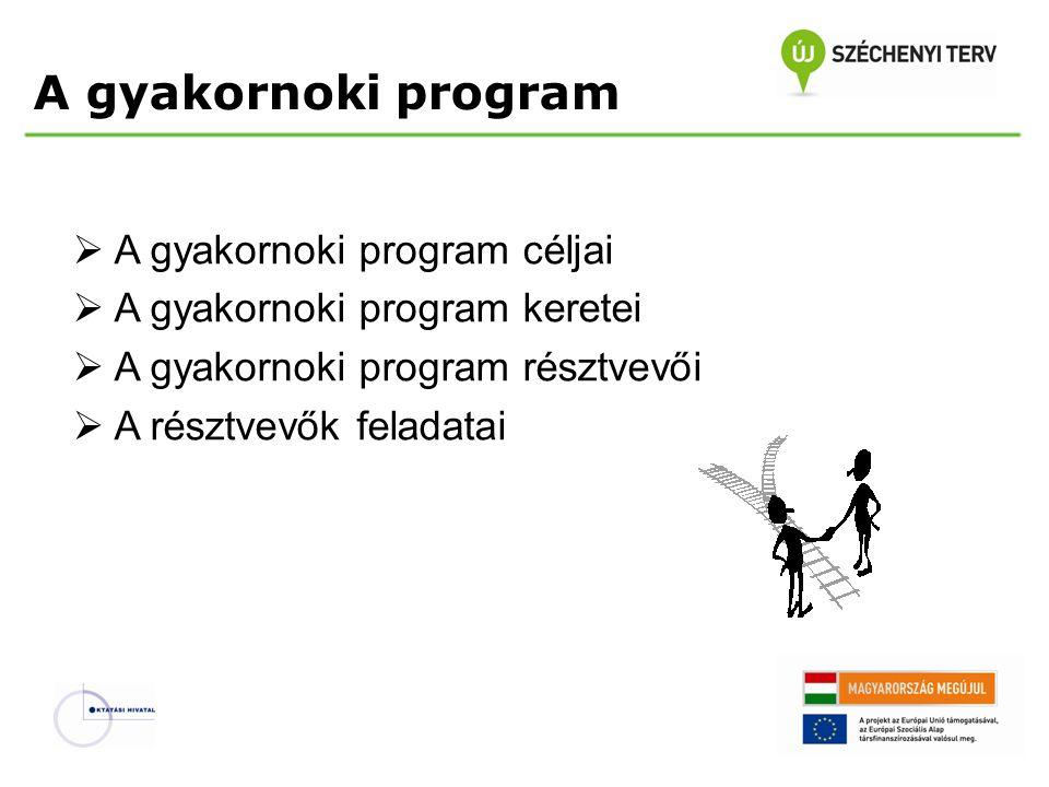 A gyakornoki program A gyakornoki program céljai