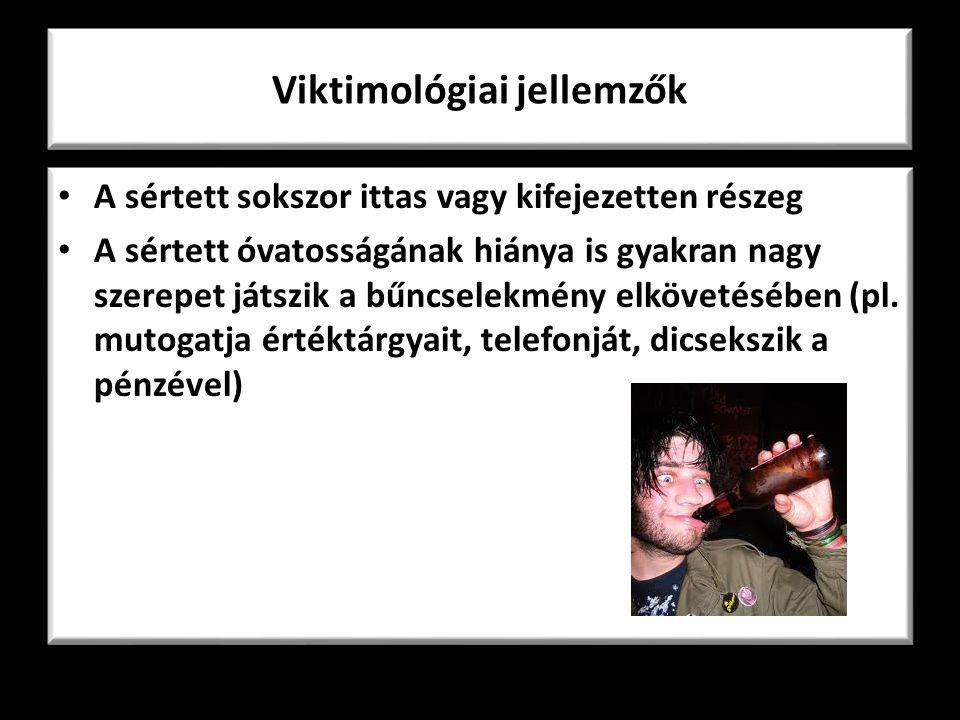 Viktimológiai jellemzők