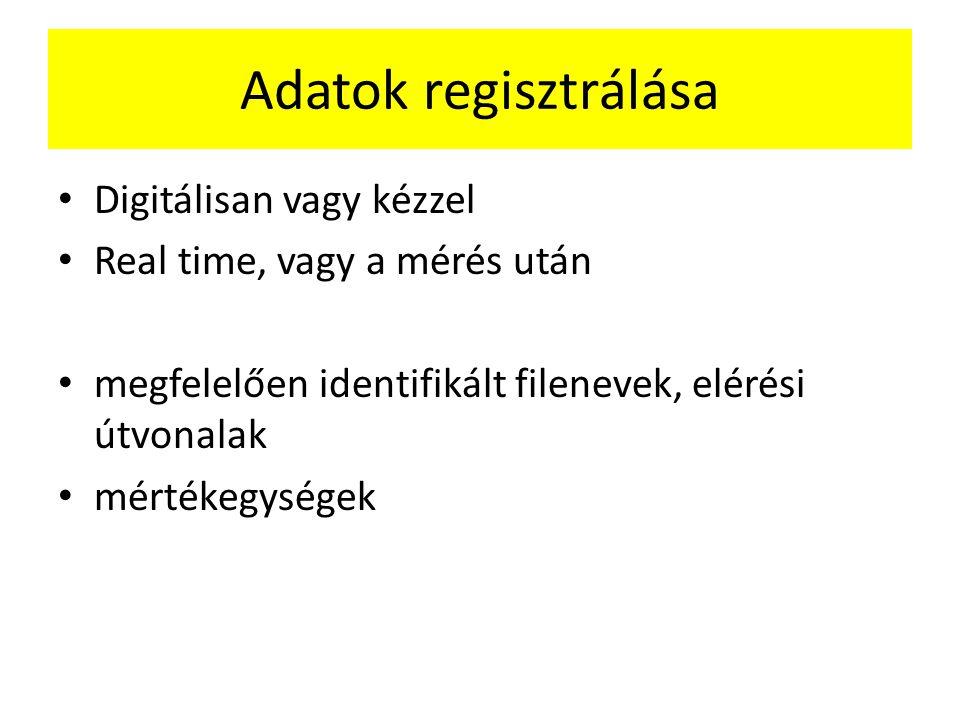 Adatok regisztrálása Digitálisan vagy kézzel