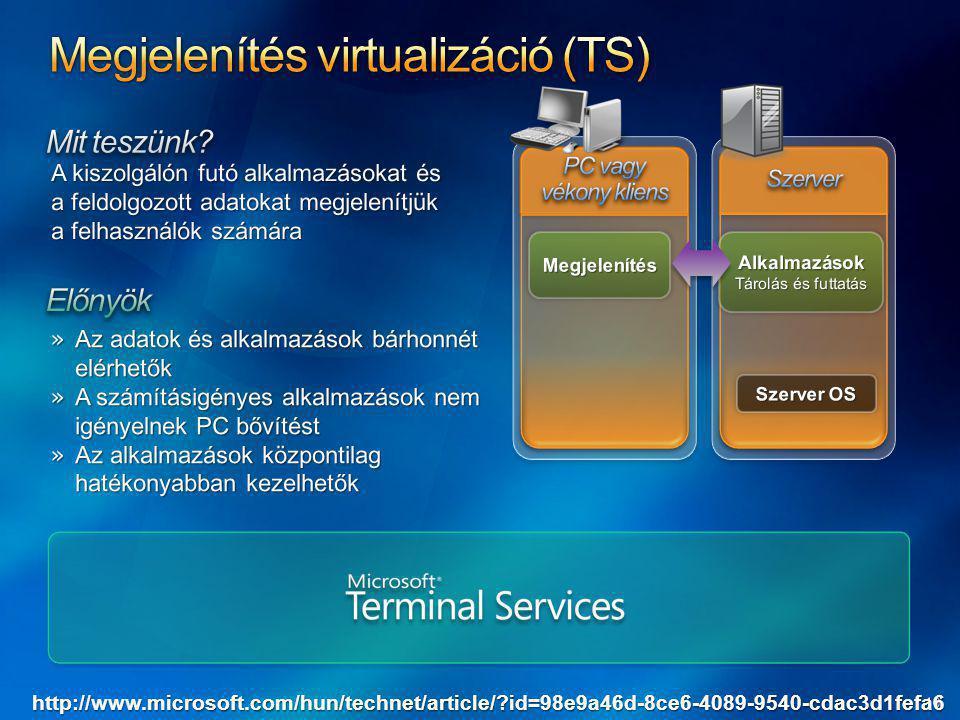 Megjelenítés virtualizáció (TS)