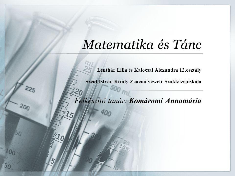 Matematika és Tánc Felkészítő tanár: Komáromi Annamária