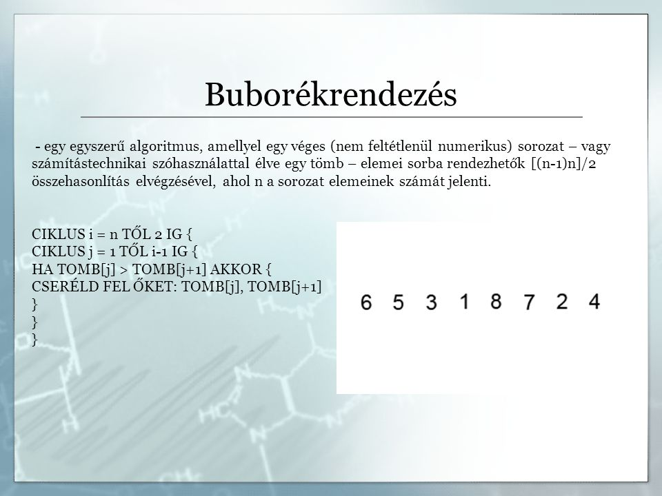 Buborékrendezés
