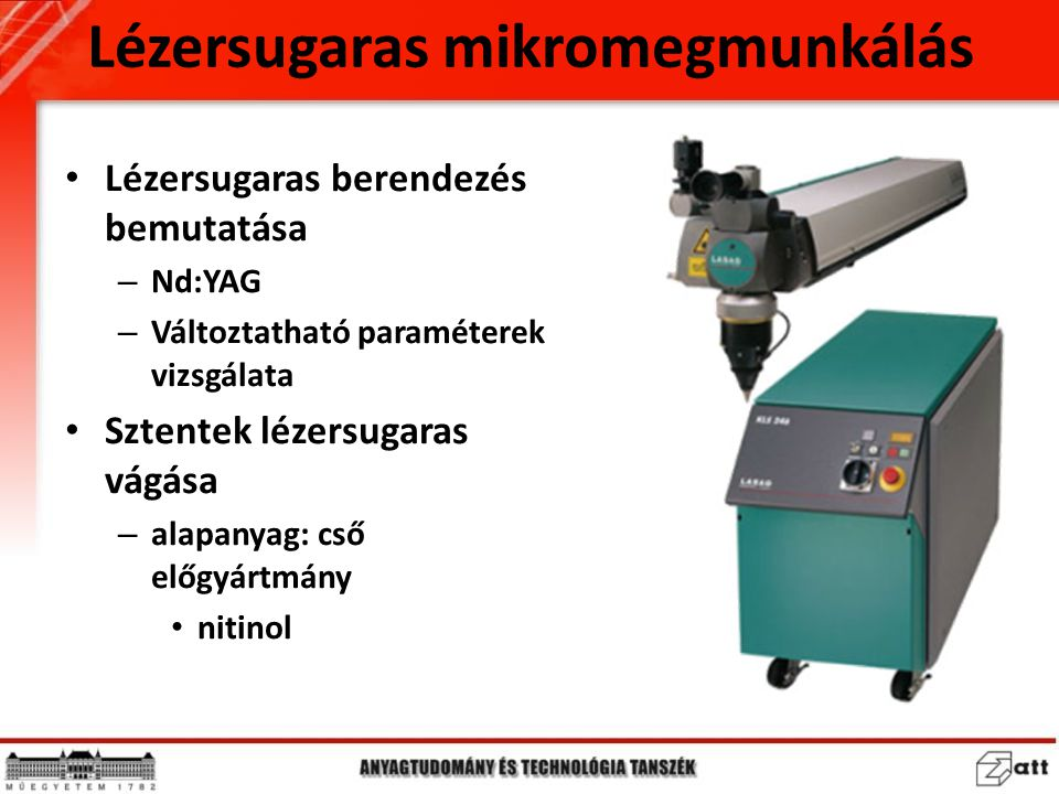 Lézersugaras mikromegmunkálás