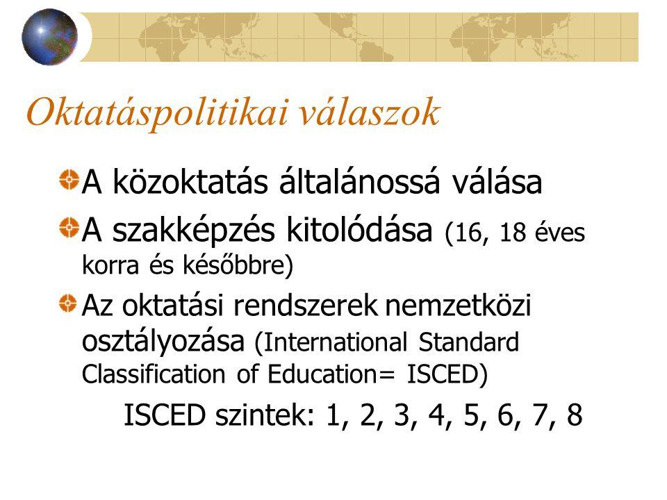 Oktatáspolitikai válaszok