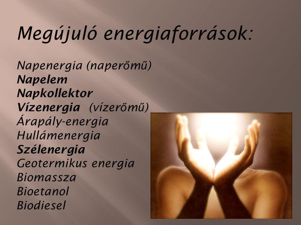 Megújuló energiaforrások: