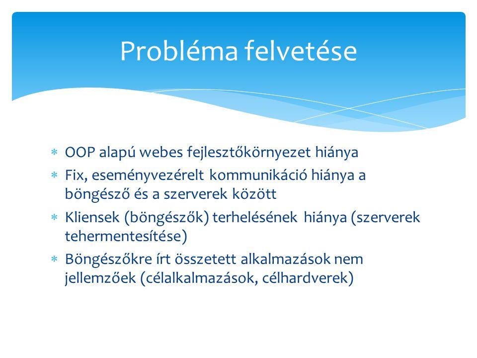 Probléma felvetése OOP alapú webes fejlesztőkörnyezet hiánya
