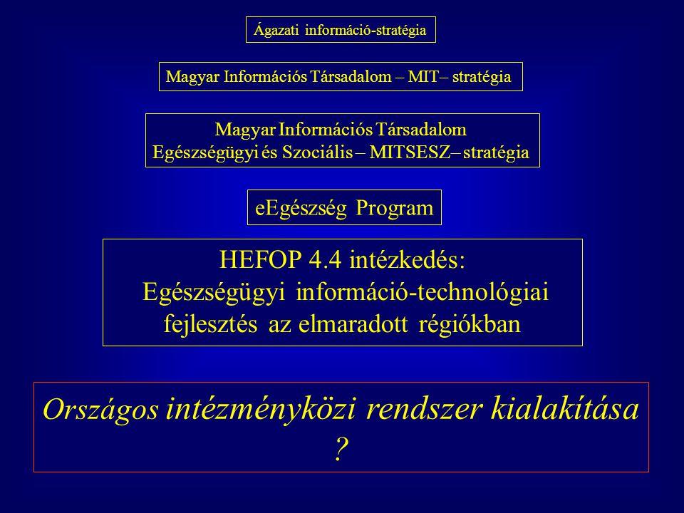 Országos intézményközi rendszer kialakítása
