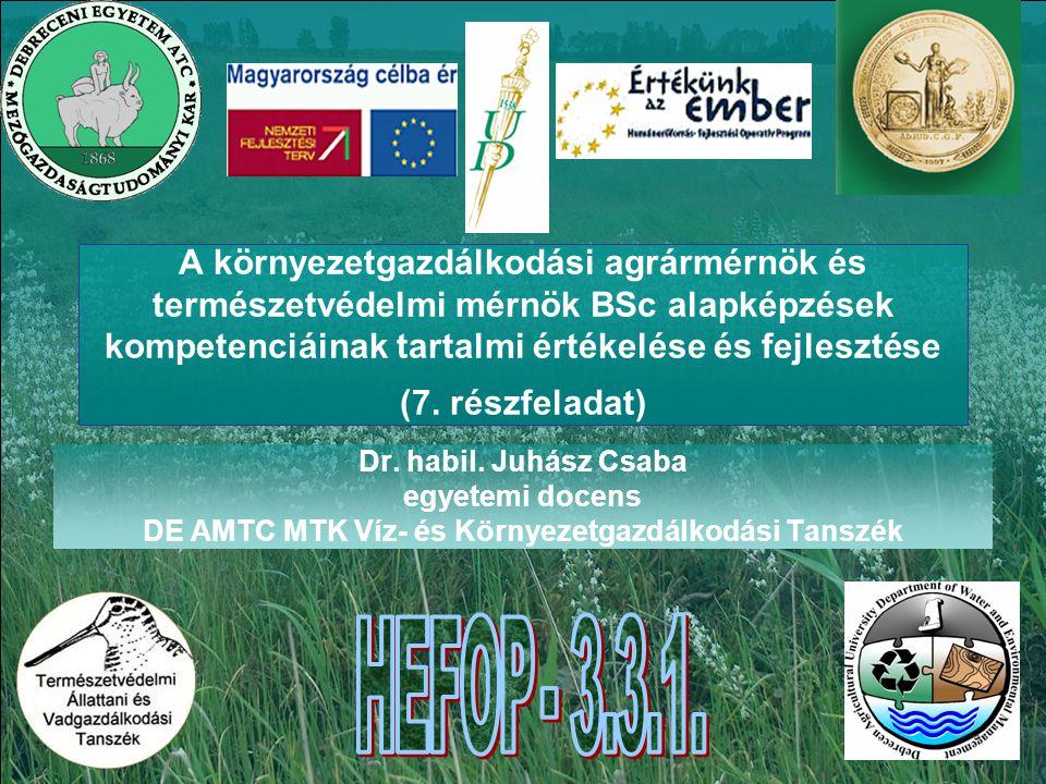 DE AMTC MTK Víz- és Környezetgazdálkodási Tanszék