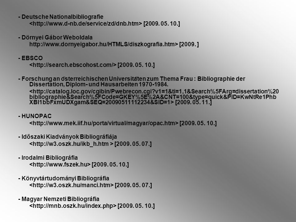 - Deutsche Nationalbibliografie