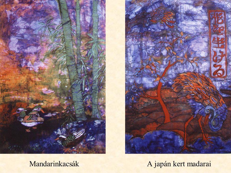 Mandarinkacsák A japán kert madarai
