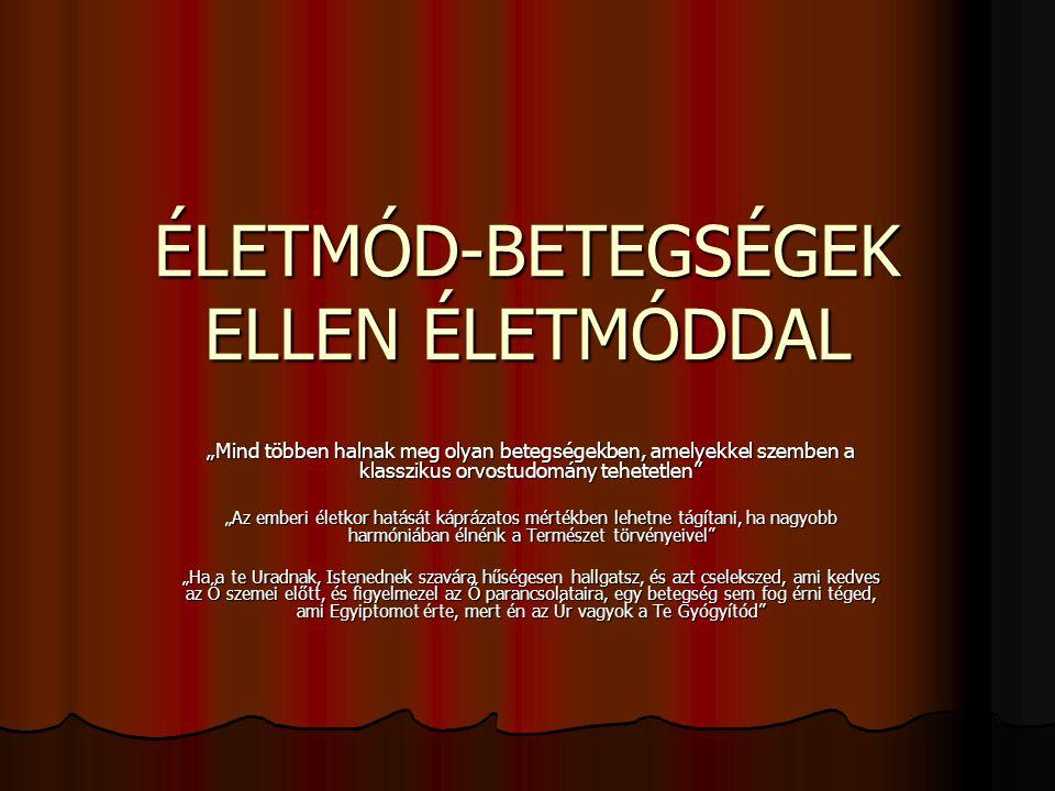 ÉLETMÓD-BETEGSÉGEK ELLEN ÉLETMÓDDAL